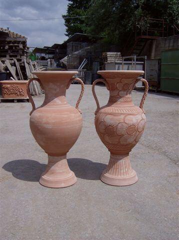 Vasi terracotta anfora alta bm408 terracotta bm408 for Vasi terracotta prezzi