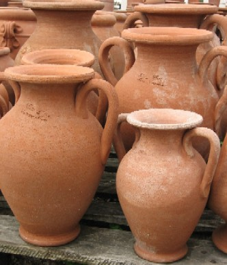 VASI Terracotta Anfora con manici BM184