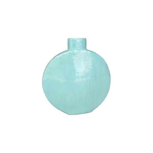 OGGETTISTICA Terracotta smaltata New Age Bottiglia turchese 214940