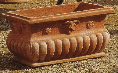 Vasi terracotta cassetta barocco bm401 terracotta bm401 for Vasi in terracotta prezzi