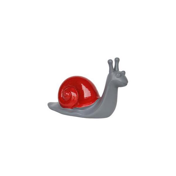 OGGETTISTICA Cemento alleggerito Lumaca rossa 525198