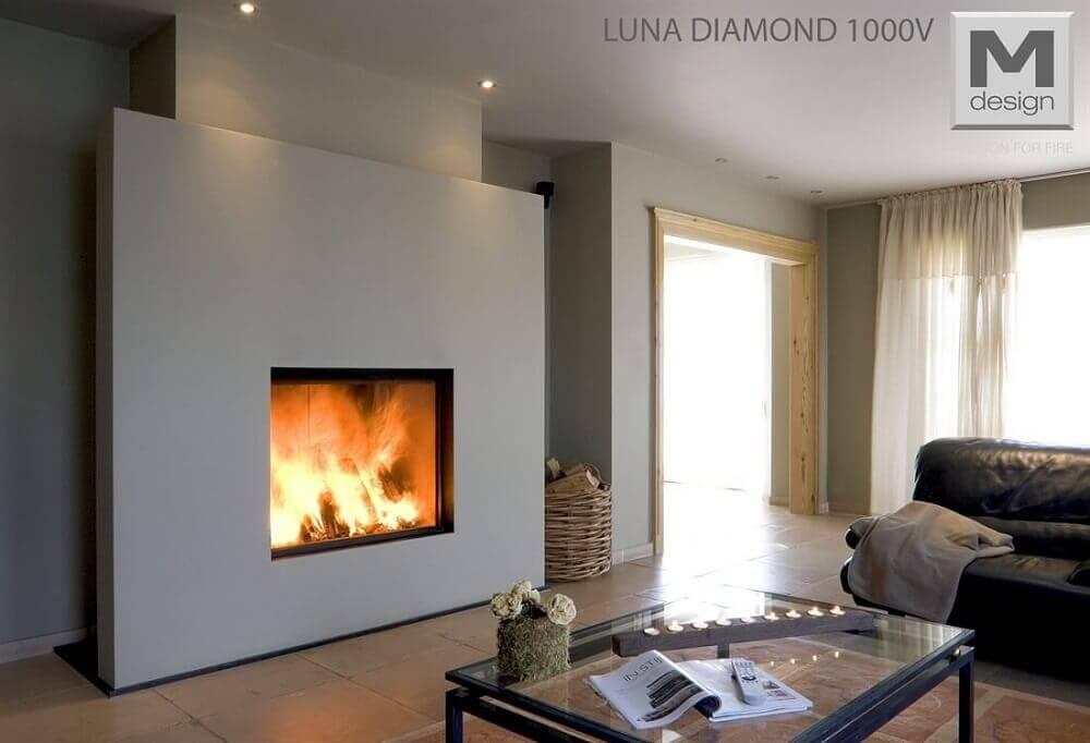 RISCALDAMENTO Camini Luna 1000v diamond