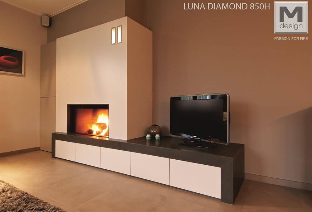 RISCALDAMENTO Camini Luna 850h diamond