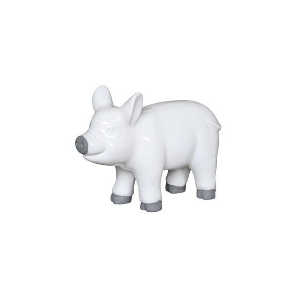 OGGETTISTICA Cemento alleggerito Maiale bianco 525216