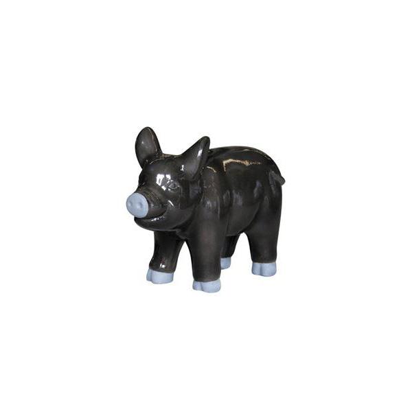OGGETTISTICA Cemento alleggerito Maiale nero 525215