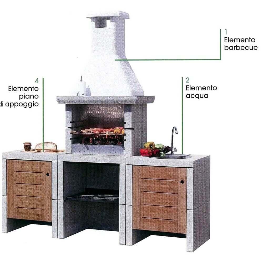 Barbecue legna melody3 acqua mcz melody3 legna for Offerte barbecue in muratura