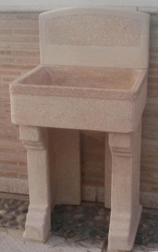 Lavandini cemento molise 60 la4264 cemento for Lavatoio esterno
