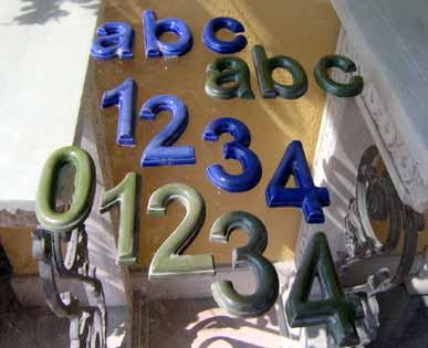 GIARDINO Varie Numeri civici BM47