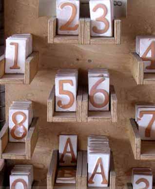 GIARDINO Varie Numeri civici 1 BM48