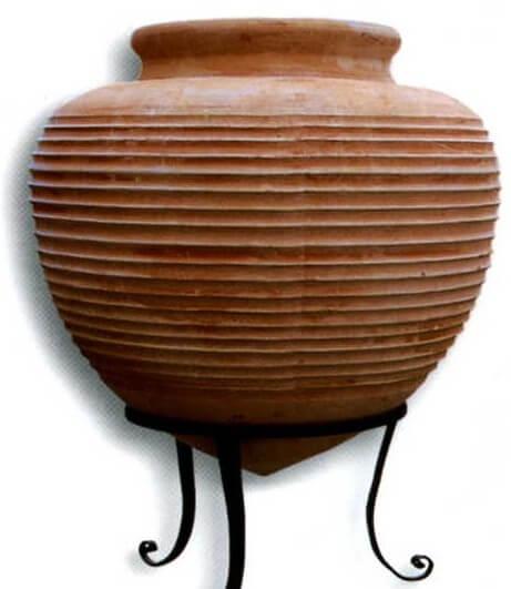 VASI Terracotta Orcio a Punta rigato DIMAC/200