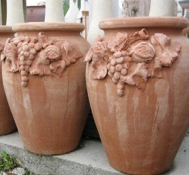 Portaombrelli VASI Terracotta Orcio decorato con frutta DIMA95