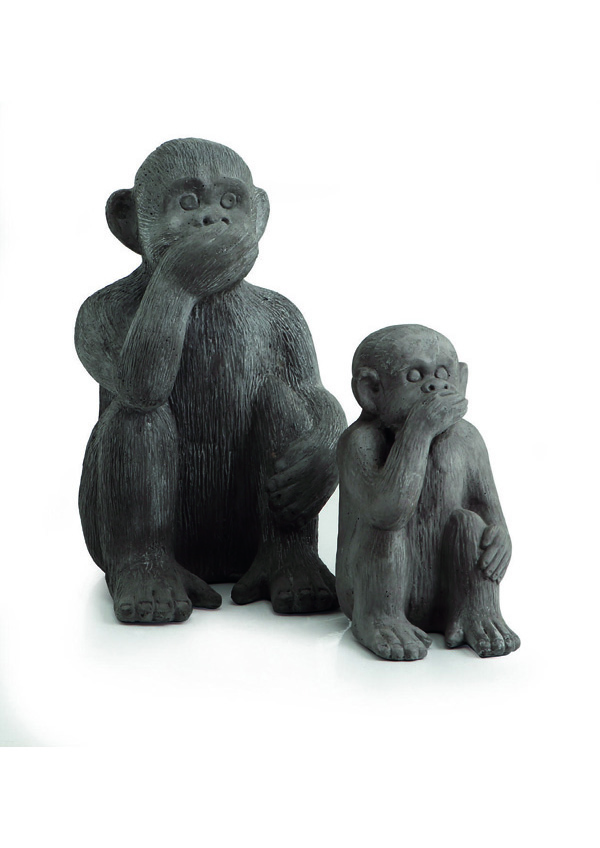 GIARDINO Statue Scimmia Non parlo 524281