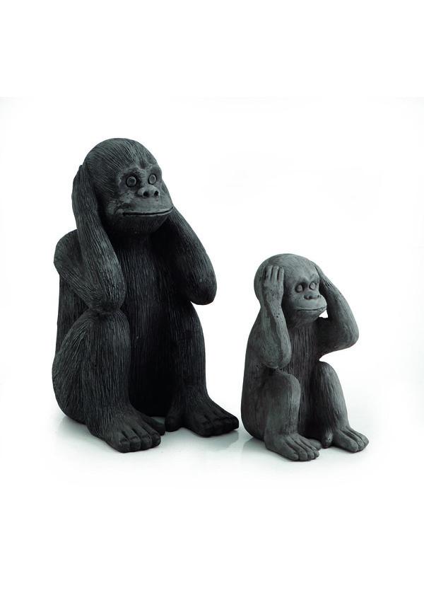 GIARDINO Statue Scimmia Non sento 524283