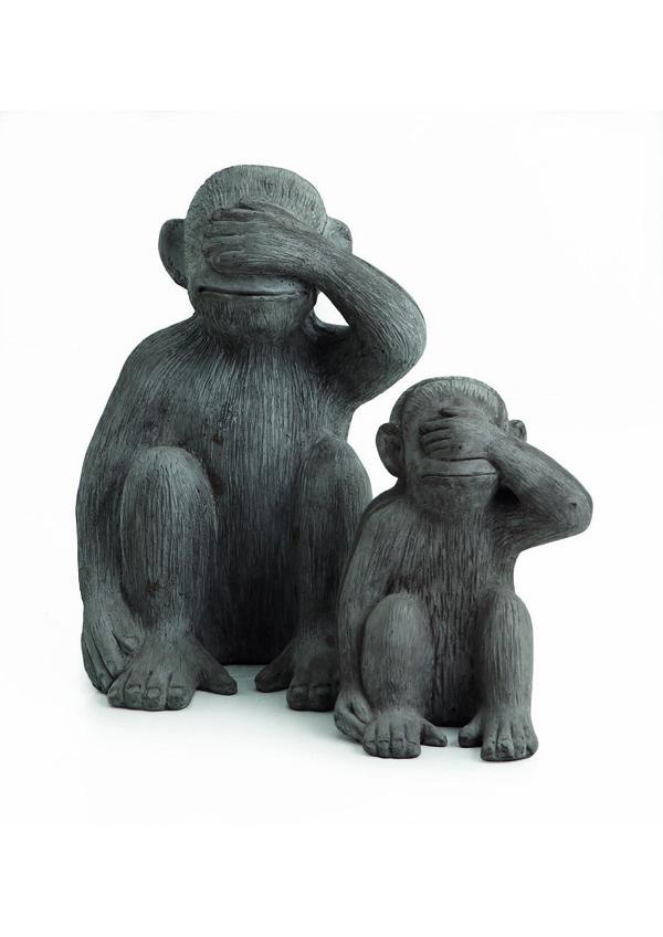 GIARDINO Statue Scimmia Non vedo 524279