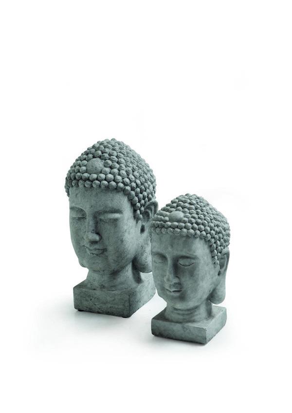 GIARDINO Statue Testa Buddha 524707