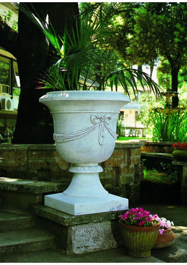 VASI Cemento Vaso con fiocco 10616