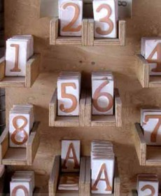 Oggettistica GIARDINO Numeri civici 1 BM48